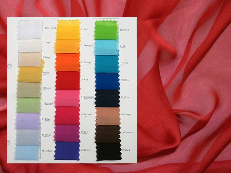 Chiffon Fabric - Solid Colors